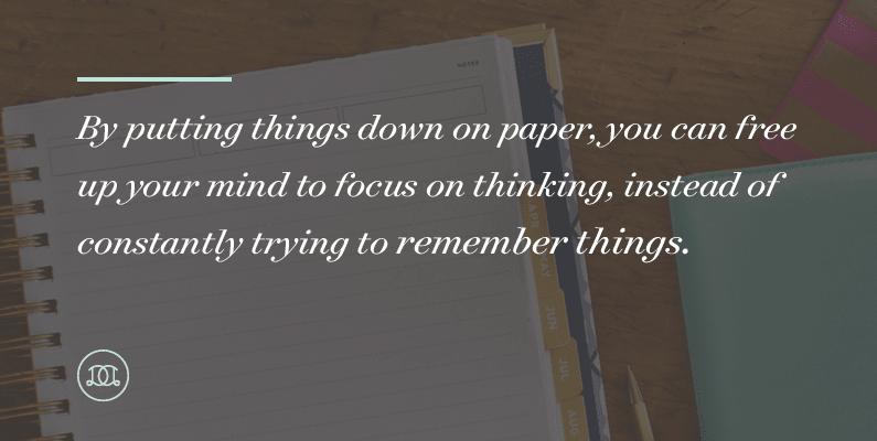 How Writing Stuff Down Can Improve Your Productivity | By putting things down on paper, you can free up your mind to focus on thinking, instead of constantly trying to remember things.