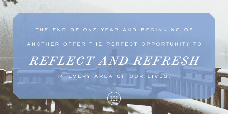 The end of one year and beginning of another offer the perfect opportunity to reflect and refresh in every area of our lives. | Day Designer