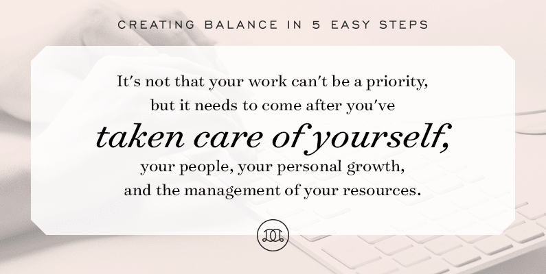 Creating Balance: How to Balance Business & Career