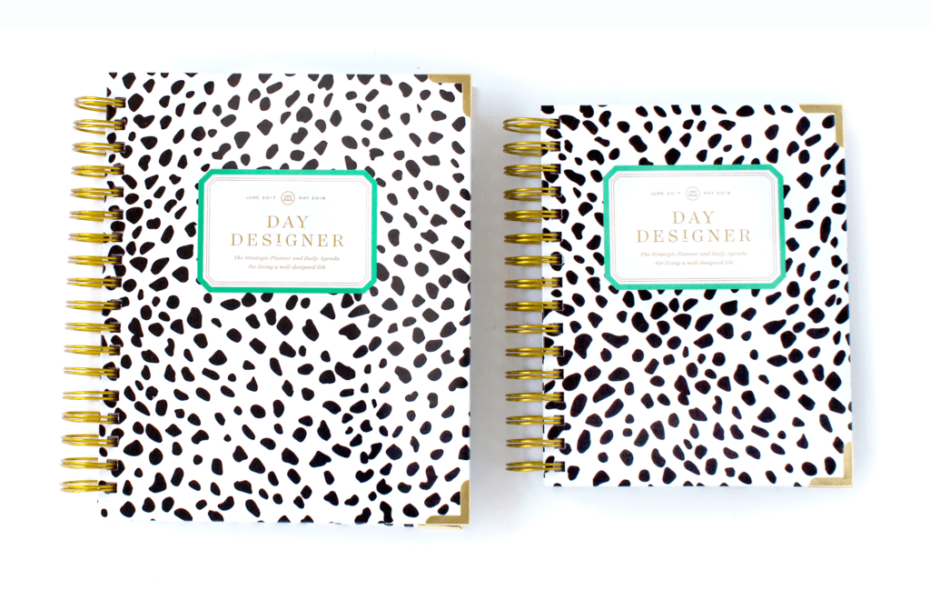 Day Designer | Midyear Flagship Edition | 2017-18 Planner | Black Spotty