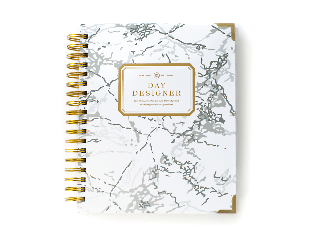 Day Designer | Midyear Flagship Edition | 2017-18 Planner | White Marble