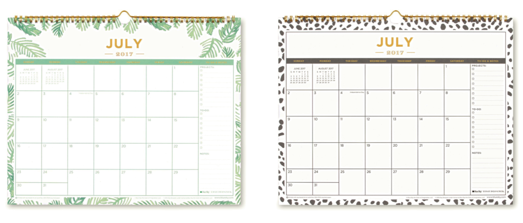 Wall Calendars | Day Designer for Blue Sky
