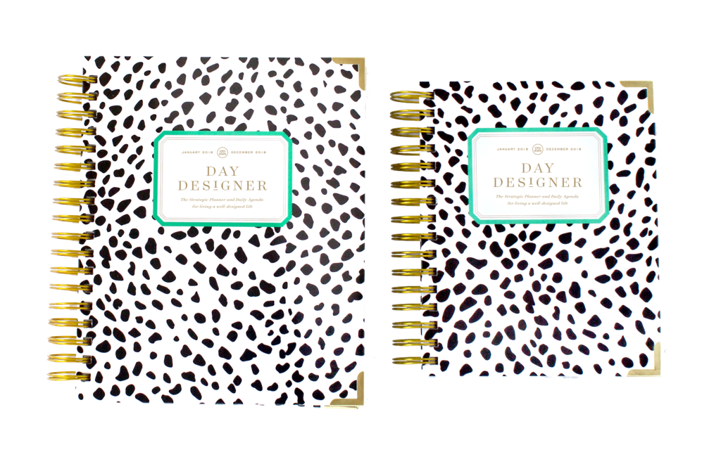 Day Designer Flagship + Mini | 2018 Daily Planner | Black Spotty