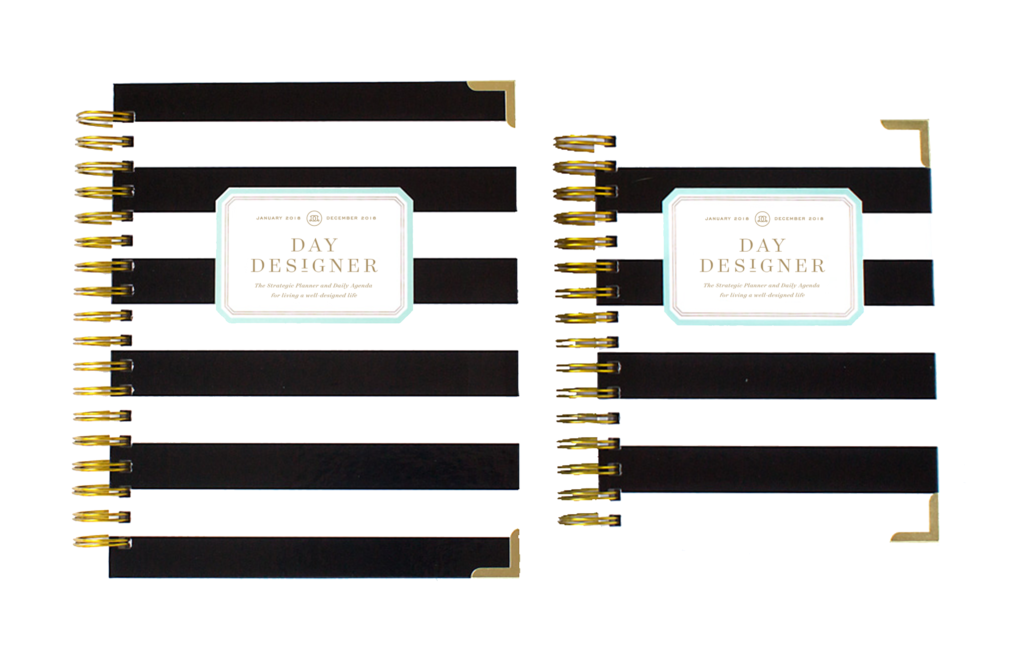 Day Designer Flagship + Mini | 2018 Daily Planner | Black Stripe