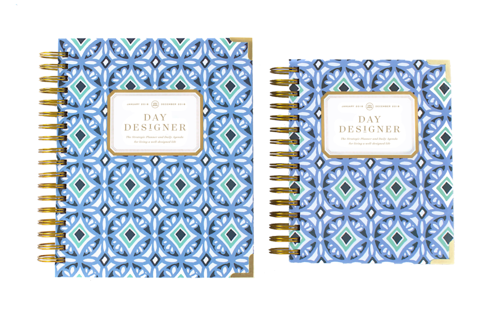 Day Designer Flagship + Mini | 2018 Daily Planner | Tile Blue