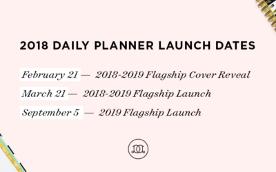 Mark Your Planner | 2018 Launch Dates