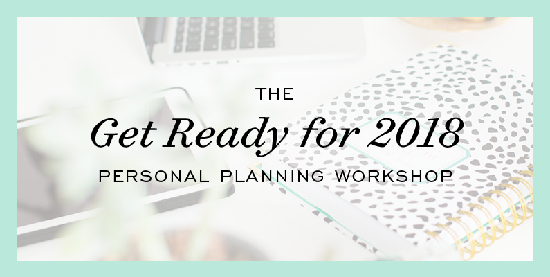 2018 Personal Planning Workshop: Now Online!
