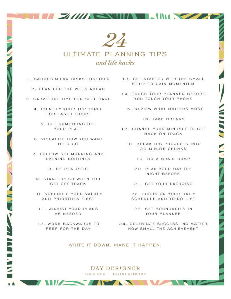Ultimate Planning Tips and Life Hacks   Day Designer