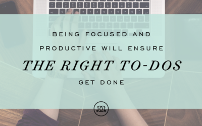 Why Focus + Productivity Are So Important to Living a Well-Designed Life