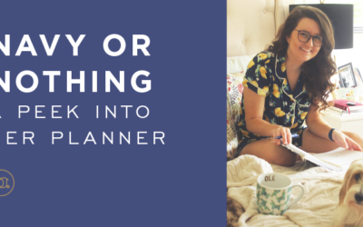 Navy or Nothing: A Peek Into Her Planner!