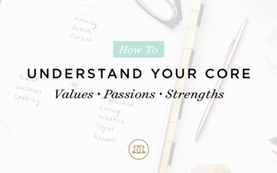 How to Understand Your Core: Values + Passions + Strengths