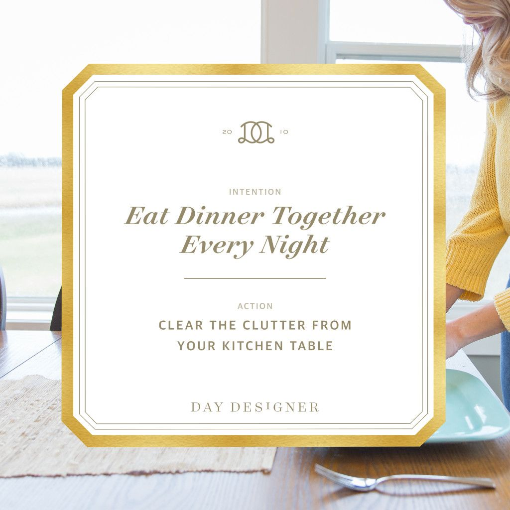 A practical and complete guide to reviving the habit of family dinner. A part of the Intentional April series with Day Designer.