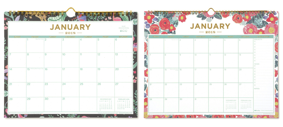 image about Day Designer for Blue Sky named Working day Designer for Blue Sky 2018 Month-to-month Wall Calendars