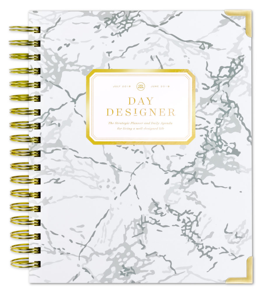 Day Designer Flagship Daily Planner | White Marble