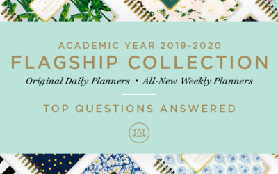 New Academic Year 2019-2020 Flagship Planners: Top Questions Answered!