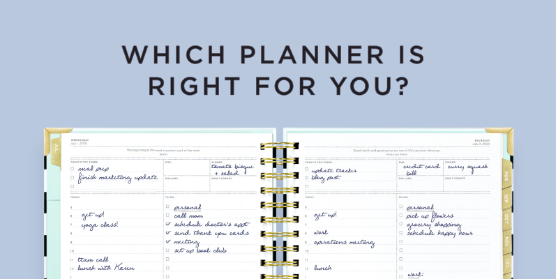 Which Planner Is Right For You?